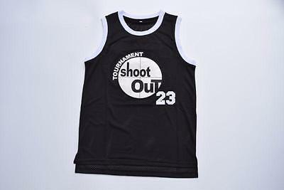 Above The Rim #23 Movie Shoot Out Black Jersey Motaw Swen New York Basketball