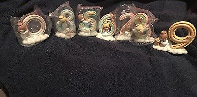 Lot Precious Moments Angel By THe Number Ages 0,3,5,6,7,8,9  Figurines Set *