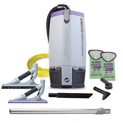 ProTeam 107538 SuperCoach Pro 10 w/ NEW ProBlade Hard Surface & Carpet Tool Kit