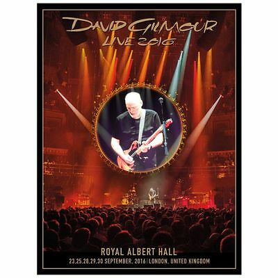 David Gilmour Pink Floyd Royal Albert Hall London Uk Lithograph /1000 -Authentic