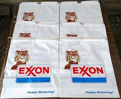 Vintage Exxon Tiger Happy Motoring Litter Tote Bag Lot of 6