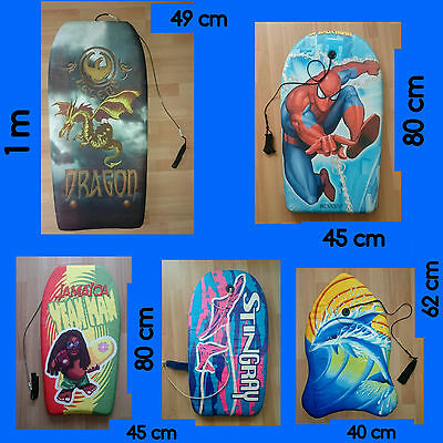 lot de 5 planches  bodyboard