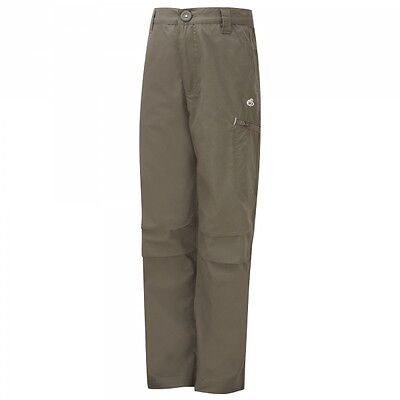 Craghoppers Kids Boys Childrens Kiwi Walking Outdoor Cargo Trousers Bark Age 5-6