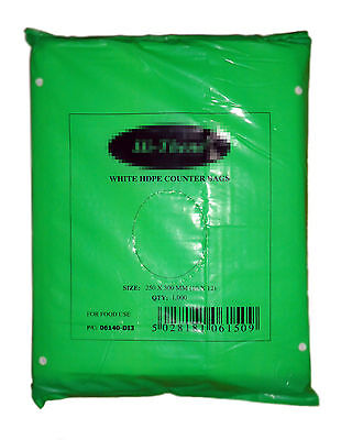 Food Butcher Counter BAGS Polythene Poly Freezer storage Pinch & Pull All Sizes