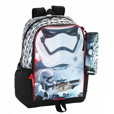 Star Wars Backpack Rucksack Force Awakens With FREE Pencil Case 44cm School Bag
