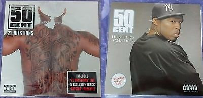 "2 X 50 Cent 12"" Vinyl Records,  21 Questions & Hustler's Ambition Inc P.I.M.P"