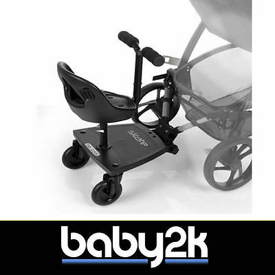 Be Cool Skate Wheeled Ride on Board for Buggy From 18 Months to 20KG Black