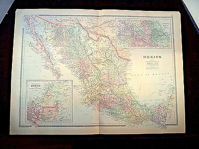 1889 Map, Mexico, Plate 73, Bradley'S Atlas Of The World