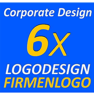 6x Logodesign Layout Service Firma Firmengründung Firmenlogo Corporate Design