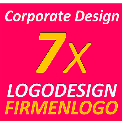 7x Logodesign Layout Service Firma Firmengründung Firmenlogo Corporate Design