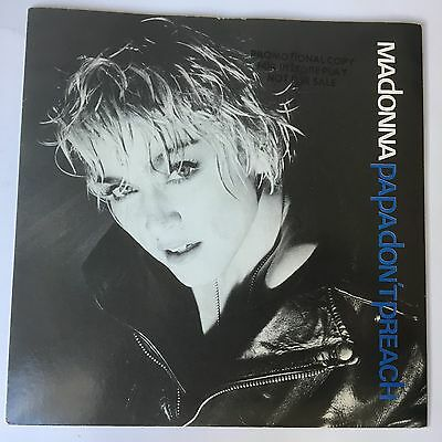 "Madonna 7""  Instore Play Only / Promo 'papa Don't Preach'  (Sire)"