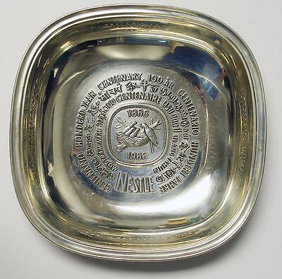 1966 Nestle 100 Year Anniversary Sterling Silver Plate VERY RARE With COA & BOX
