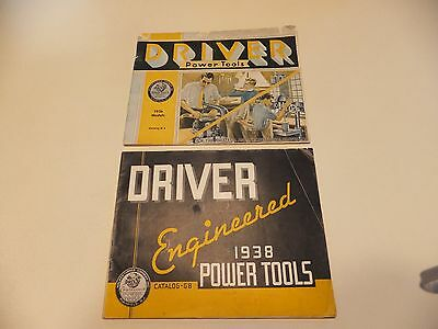 (2) Driver Power Tools Catalogs (1936 & 1938)