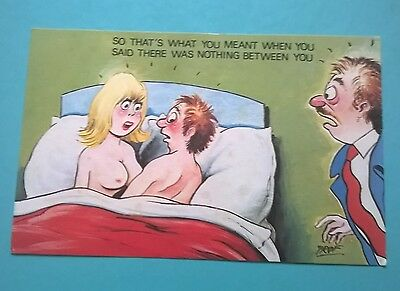 Cardtoon Post Card Saucy Seaside Comic Humour Series B no C30 Prof Unposted