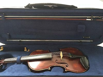 4/4 Violin With Bow And Case
