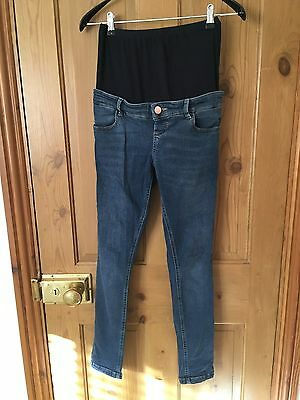 ASOS Maternity Skinny Jeans Size 6 Over The Bump Blue Denim