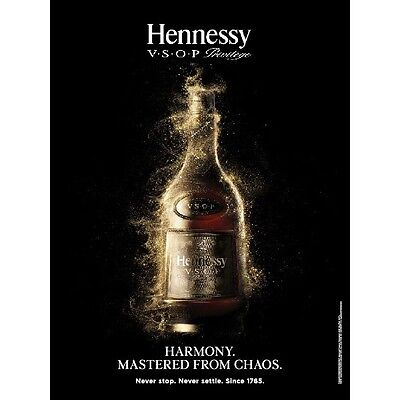 """Hennessy vsop. """"chaos"""" poster  18 by 27. new"""