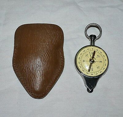 Vintage German Compass Nautical Map Reader w Case Outdoors