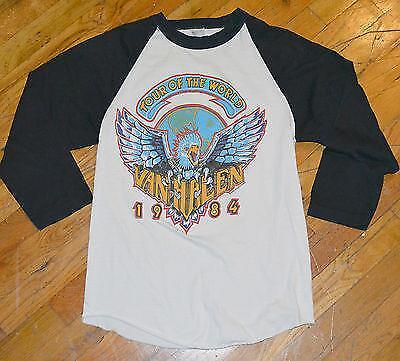 RaRe *1984 VAN HALEN* vtg rock concert tour jersey shirt (M) 80s David Lee Roth