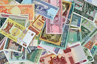 50 Different paper money collection. non-repetition of all. UNC CURRENCY 50PCS