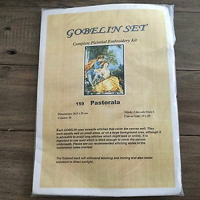 Gobelin Embroidery Kit No.159  Pastorala New in pack wool, instructions, canvas