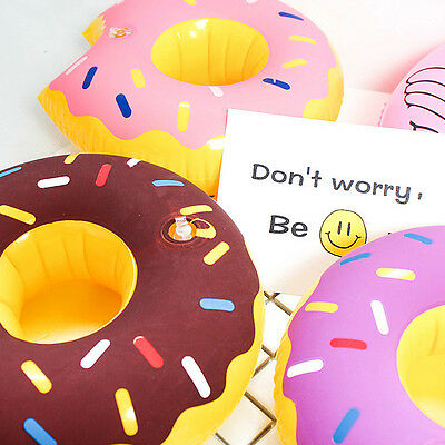 1 Pc Summer Party Boat Donut Swimming Pool Inflatable Drink Can Beer Holder MT25