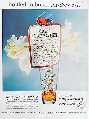 Vintage 1959 Old Forester Kentucky Bourbon Whisky advertisement print ad art