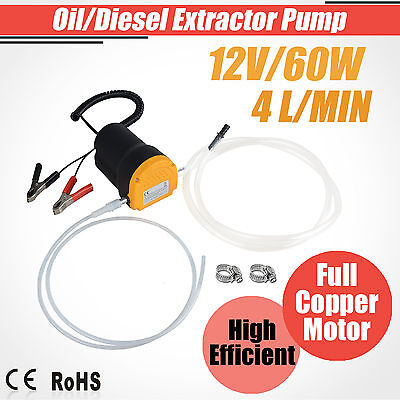 12V 60W Electric Fluid Extractor Oil Diesel Transfer Pump Siphon Car Motorbike