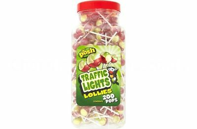 200 Traffic Light Lolly Posh Lollies Retro Sweets Kids Candy