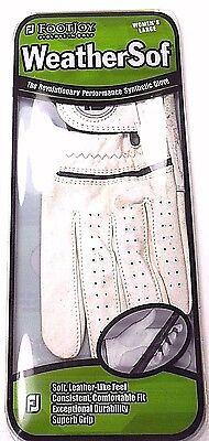 Golf Footjoy Glove Woman's Left Large 2005 White Weathersof