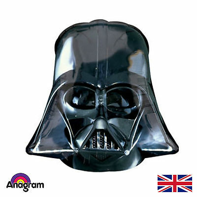"25"" Star Wars Party Darth Vader Helmet SuperShape Helium Foil Balloon NEW"