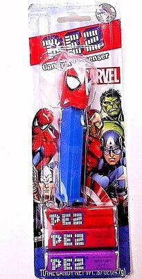 Pez Spiderman Dispenser Candy Marvel Superhero New in Package on Card Hungary
