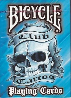 Bicycle Playing Cards – Club Tattoo Blue - Single Deck.New Sealed.