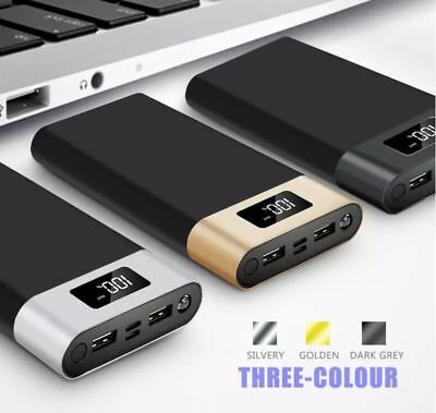Power Bank 20000mah Slim Dual USB Battery Charger For iPhone Samsung Mobile Phon