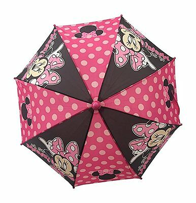 "New Disney Minnie Mouse Girls Kids ""OH SO"" Umbrella - 3D Handle"