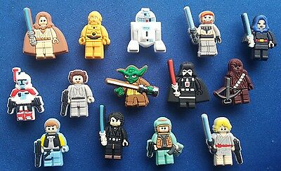 14 Pc Lego Star Wars C3Po R2D2 Jibbitz Shoe Charms Cake Toppers Party Favors