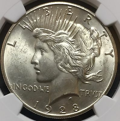 1928 P Peace Silver Dollar Ngc Ms 63 Key Date Beautiful Bu Coin Nice Luster
