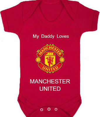 MANCHESTER UNITED Football/Soccer Club Baby Romper with Personal Custom Name
