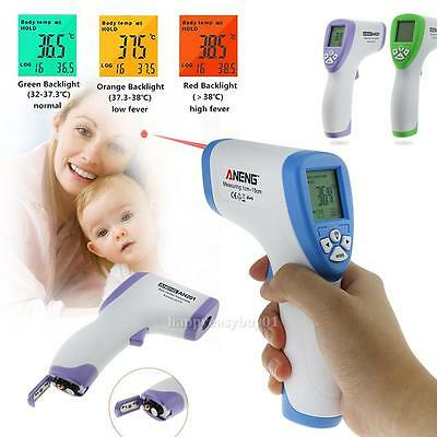 Digital Backlight LCD Non-contact Body IR Infrared Thermometer Temperature Gun
