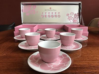 illy Art Collection by Michael Lin, 6 Espresso Cups, Rosenthal, NEU OVP!