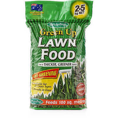 NEW Brunnings Green Up Lawn Food 2.5 Kg