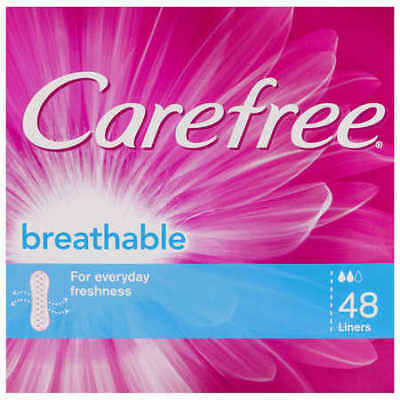 NEW Carefree Breathable Liners 48 Liners
