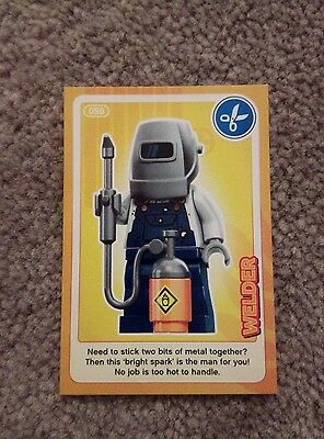 Lego Create The World Individual Card. Number 50: Welder. Sainsbury's.