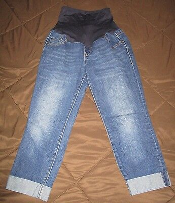 Old Navy Maternity Capri Jeans Pants Size Small 5 6 Stretch Cute A1
