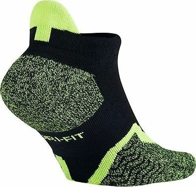Nike Dri-Fit Elite No-Show Tennis Socks Style SX4987-011 Size S (3Y-5Y)