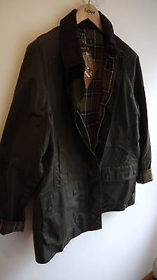 Barbour International Duke Wax Jacket, New With Defect, Sage Green, XL