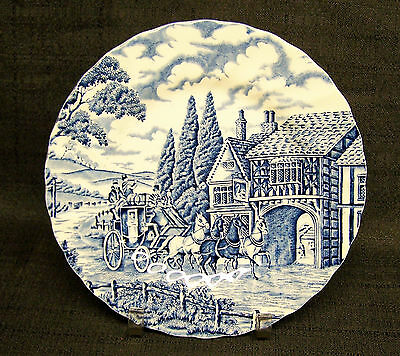 "Myott Staffordshire Royal Mail/Blue 7 3/4"" Dessert Plate-Made in England"