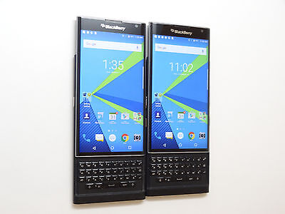 Lot of 2 Blackberry Priv STV-1001 T-Mobile Smartphones Good LCD AS-IS GSM #