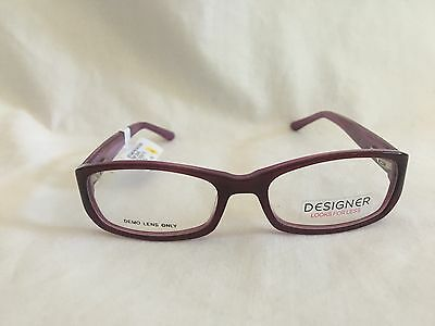 DESIGNS FOR LESS Eyeglass Frames Glasses Woman\'s RX-able Demi ...