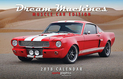 2018 Dream Machines - Muscle Car Edition Deluxe Wall Calendar